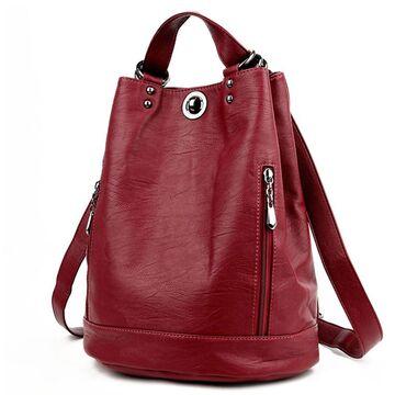 Женский рюкзак, красный П2430