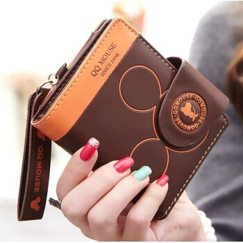 Женский кошелек Микки Маус, коричневый П2449