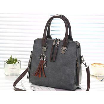 Женская сумка, серая 0148