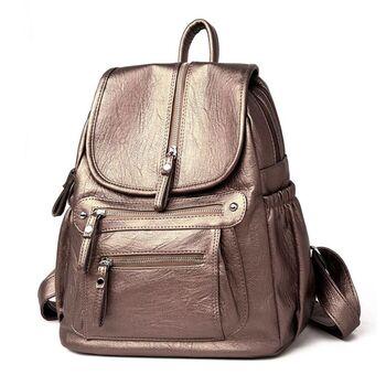 Женский рюкзак, золотистый П2460