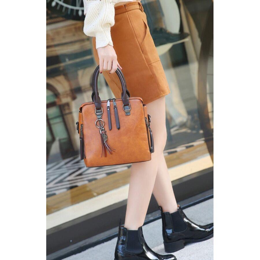 Женские сумки - Женская сумка, коричневая 0149