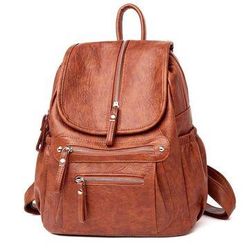 Женский рюкзак, коричневый П2461
