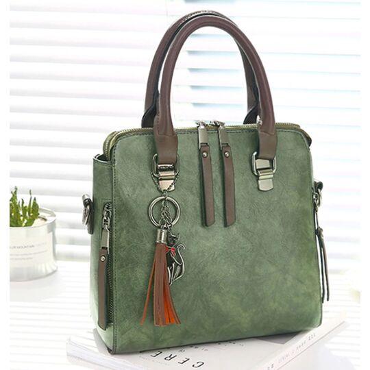 Женские сумки - Женская сумка, зеленая П0151