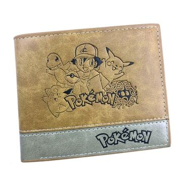 Мужской кошелек Покемон, коричневый П2482