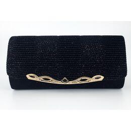 Женская сумка-клатч, черная 0153