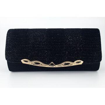 Женская сумка-клатч, черная П0153