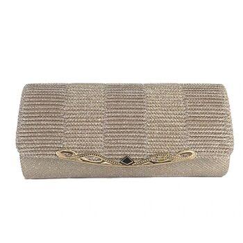 Женская сумка-клатч, бежевая 0154