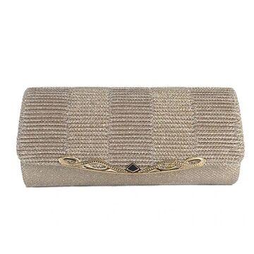 Женские клатчи - Женская сумка-клатч, бежевая П0154