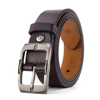 Мужской ремень BISON DENIM, коричневый П2470