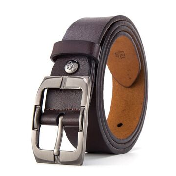 Мужской ремень BISON DENIM, коричневый П2752