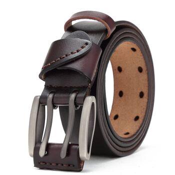 Мужской ремень BISON DENIM, коричневый П2473