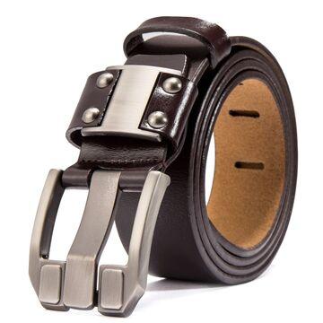 Мужской ремень BISON DENIM, коричневый П2477