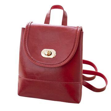 Женский рюкзак, красный 2486