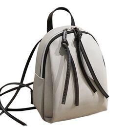 Женский рюкзак, серый П2486