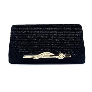 Женская сумка-клатч, черная П0158