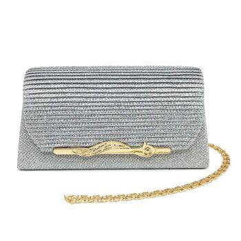 Женская сумка-клатч, серая П0159