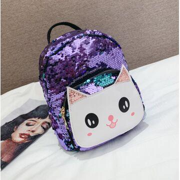 """Детский рюкзак """"Cartoon Cat"""", фиолетовый П2523"""