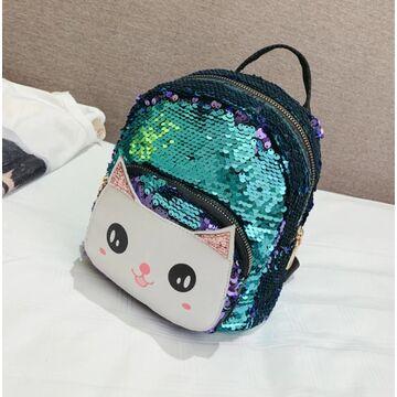 """Детский рюкзак """"Cartoon Cat"""", зеленый П2525"""