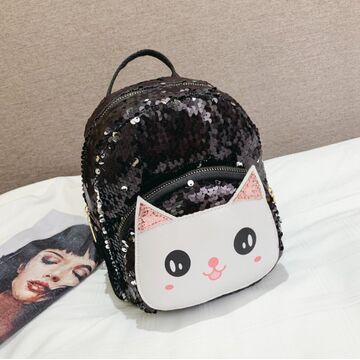 """Детский рюкзак """"Cartoon Cat"""", черный П2526"""