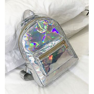 Женский рюкзак, серебро П2527