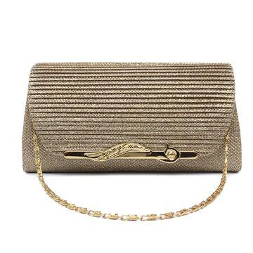 Женская сумка-клатч, золотая П0160