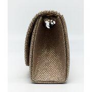 Женские клатчи - Женская сумка-клатч, золотая П0160