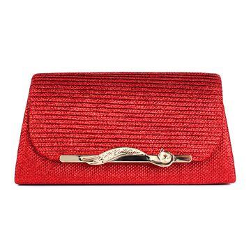 Женская сумка-клатч, красная П0161