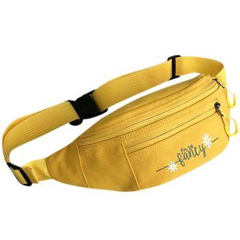 Женская бананка, сумка на пояс, желтая П2546