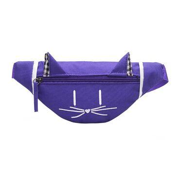 Детская сумка банан, фиолетовая П2556
