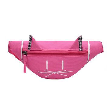 Детская сумка банан, розовая П2557