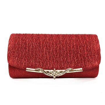 Женская сумка-клатч, красная П0163