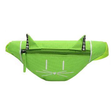 Детская сумка банан, зеленая П2559