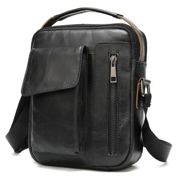 "Мужская сумка на плечо ""WESTAL"", черная 2573"