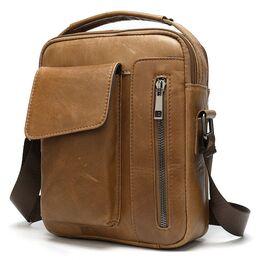 """Мужская сумка на плечо """"WESTAL"""", коричневая 2574"""