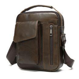 """Мужская сумка на плечо """"WESTAL"""", коричневая 2575"""