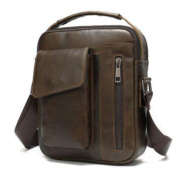 """Мужская сумка на плечо """"WESTAL"""", коричневая П2575"""