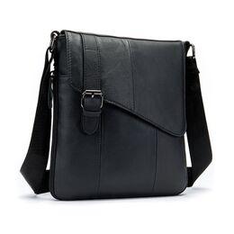 """Мужская сумка """"WESTAL"""", черная 2577"""