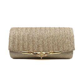 Женская сумка-клатч, золотистая 0166