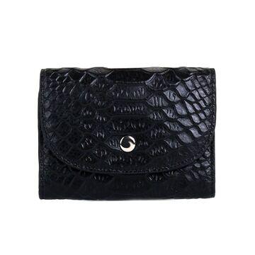 Женский мини кошелек, черный П2605