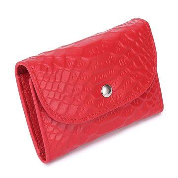 Женский мини кошелек, красный П2607