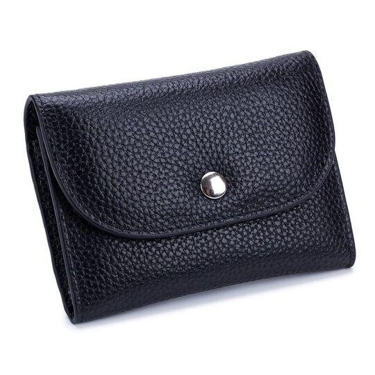 Женские кошельки - Женский мини кошелек, черный П2611