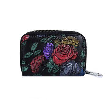 Женский кошелек с цветами П2613