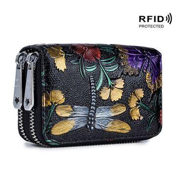 Женский кошелек с цветами П2614