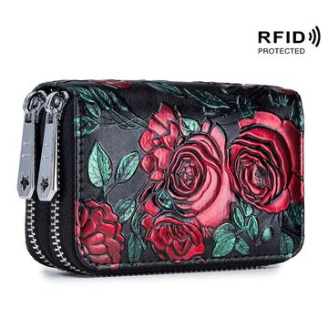 Женский кошелек с цветами П2616