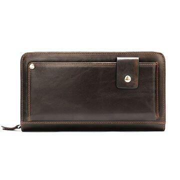 """Мужское портмоне """"WESTAL"""", коричневое  П2674"""