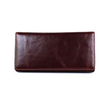 """Мужское портмоне """"WESTAL"""", коричневое  П2677"""