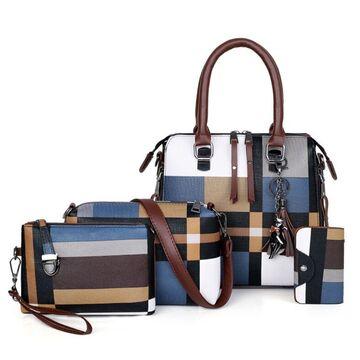 Женская сумка+клатч+кошелек+визитница П2769