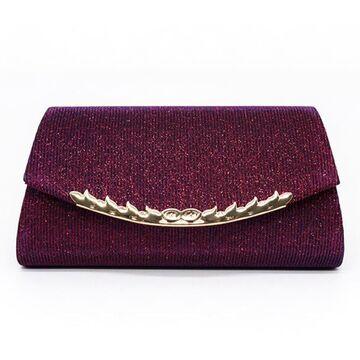 Женская сумочка клатч, красная П2778