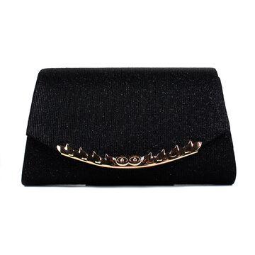 Женская сумочка клатч, черная П2780