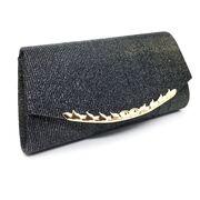 Женские клатчи - Женская сумочка клатч, черная П2780